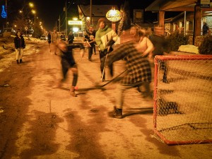Street Hockey Night in Canada at the Red Tree Lodge
