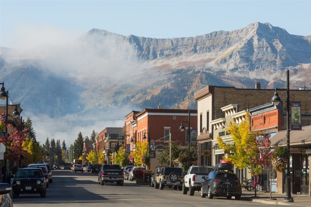 Downtown Fernie in Fall