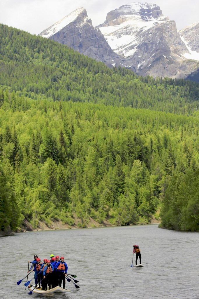 See the Three Sisters from the Elk River