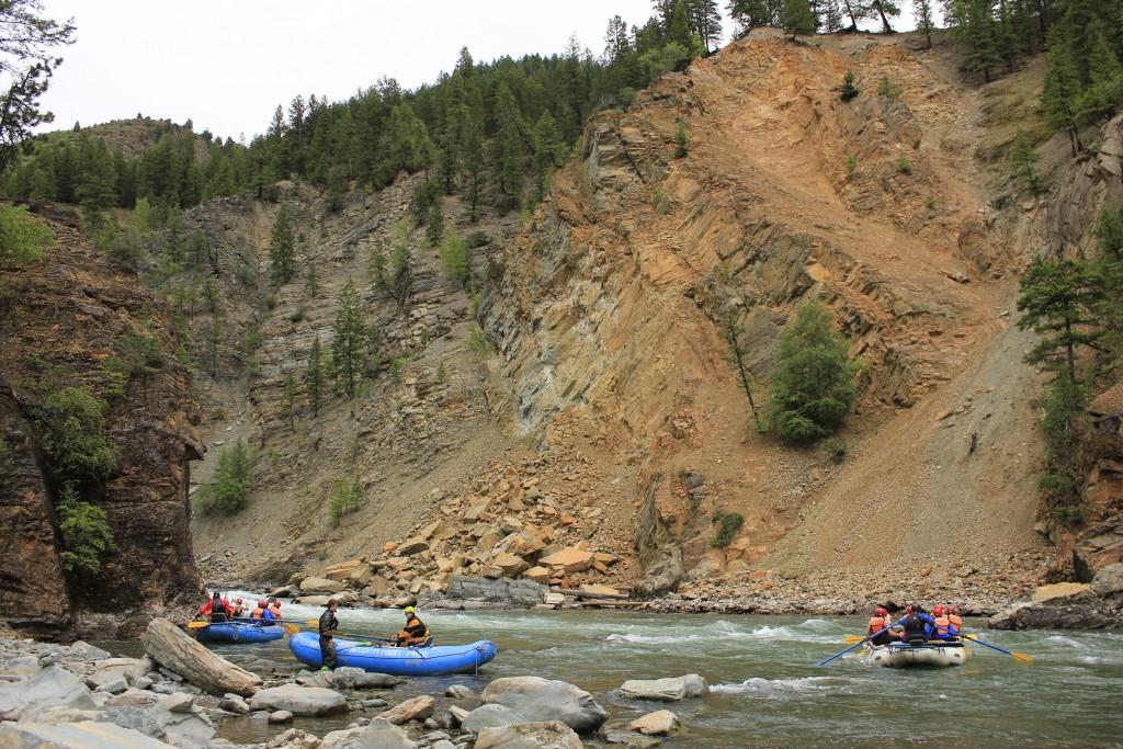 rafting the elk river