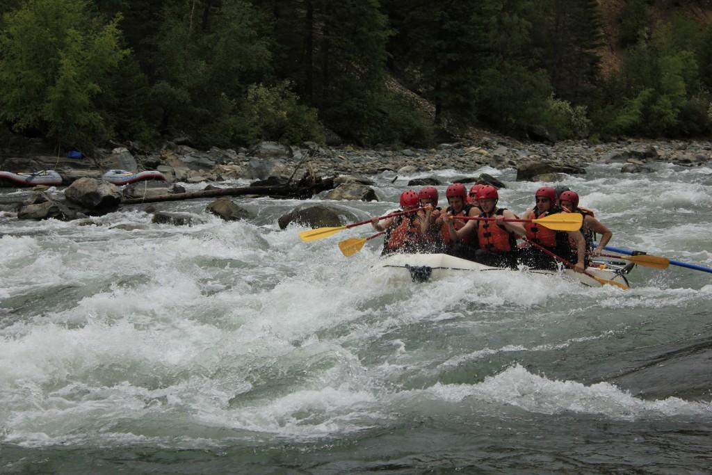 Whitewater rafting in Fernie
