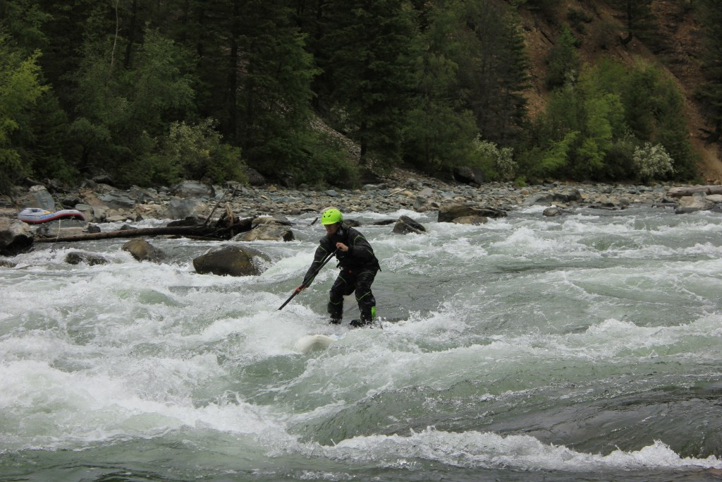 white water paddleboarding