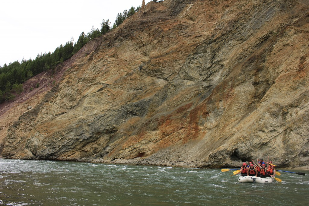 Canyon walls in the Elk River