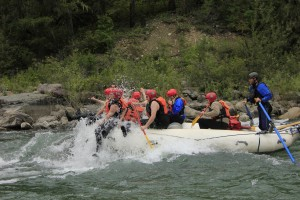 Summer river activities in Fernie