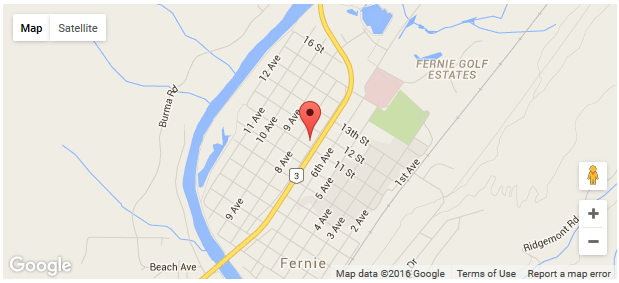 Find the hotel in Fernie with Google Maps