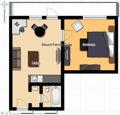 Mount Fernie Bridal Suite Floorplan