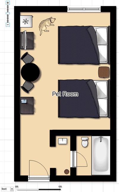 Pet Friendly Hotel Room Floorplan