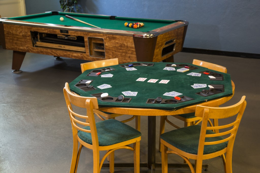 Games Room - Poker Table