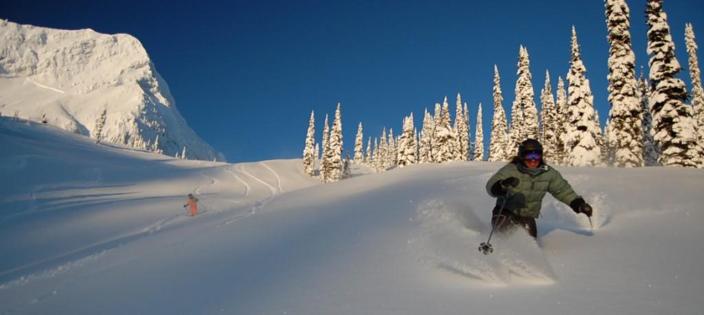 skiing powder at Fernie Alpine Resort