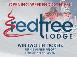 Contest Entry to Win Fernie Ski Passes